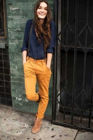 Outfit Blusa Azul marino