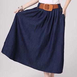 faldas azul marino