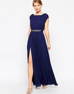 Comprar Vestido Azul Marino Encaje Boda Fiesta
