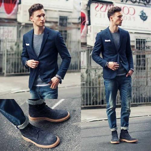 combinar zapatos azul marino hombre