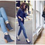 combinar zapatos azul marino mujer