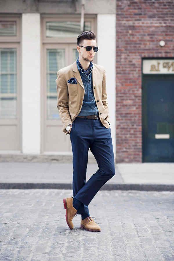 Como Combinar Un Pantalon Azul Marino De Vestir