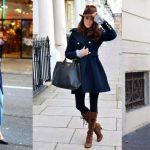 como combinar abrigo azul marino