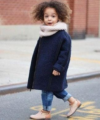 como combinar chaqueta azul marino niñas