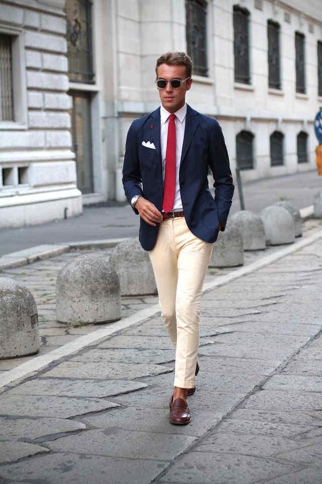 Cómo Combinar Americana O Blazer De Hombre O Mujer Azul