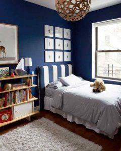 decorar habitacion en azul marino