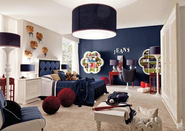 decorar habitacion en azul marino para niña