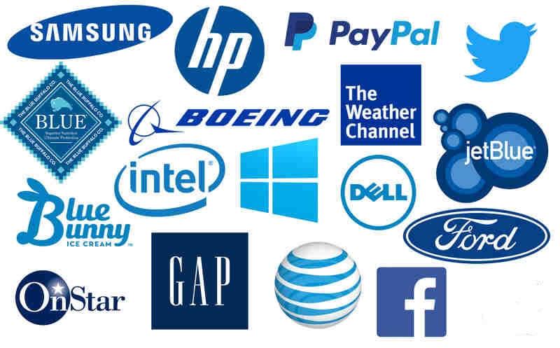 significado del azul marino marketing o publicidad logos