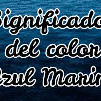 Significado del color azul marino