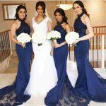 vestido para boda azul marino