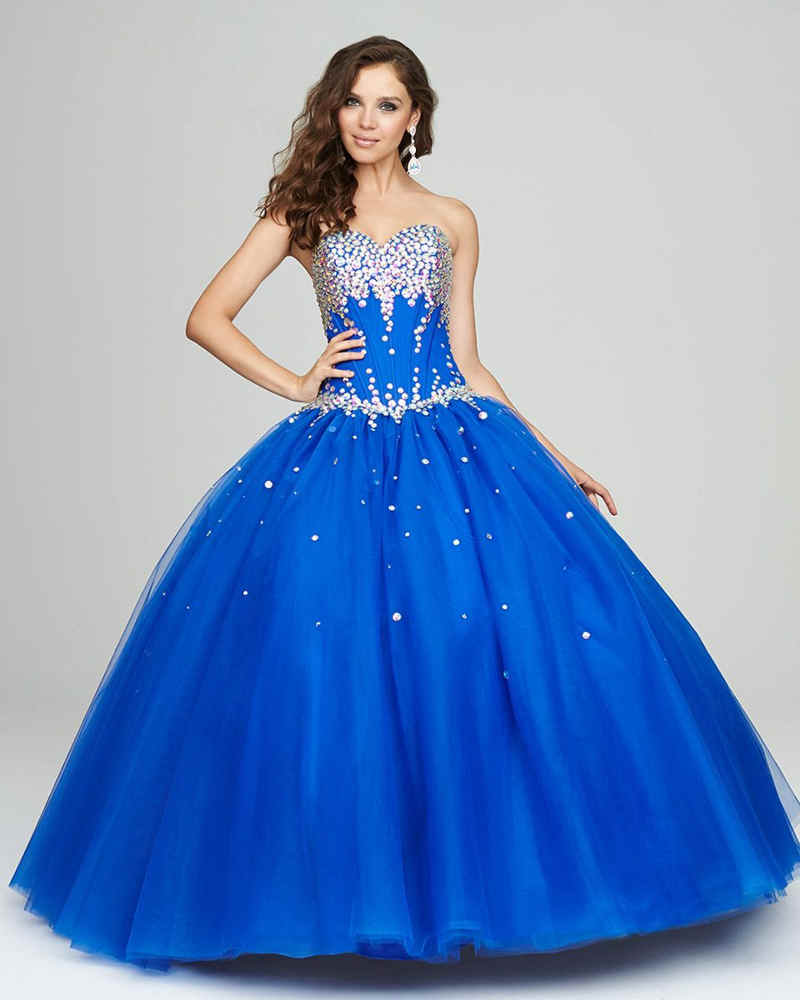 Vestido azul pavo corto
