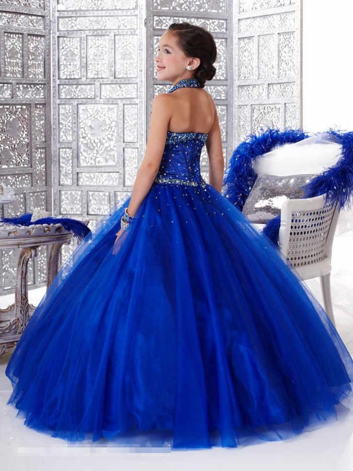 Vestidos De Fiesta De Nina Azul Rey Vestidos Elegantes De