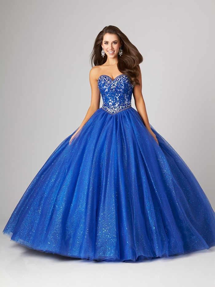vestidos largos azul rey vx