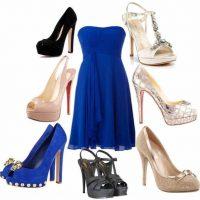 Maquillaje y zapatos para vestidos de color Azul Francia
