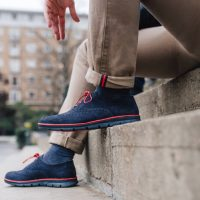 Calzado azul marino para hombre
